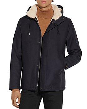 Sandro - Deck Jacket Cotton Faux Fur Lined Coat