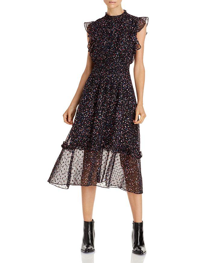 AQUA - Flutter Sleeve Midi Dress - 100% Exclusive