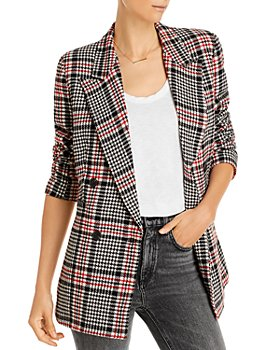 AQUA - Plaid Double Breasted Button Front Jacket - 100% Exclusive