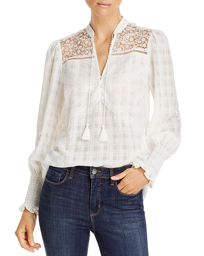 Lini Collette Smocked Sleeve Blouse - 100% Exclusive In Ivory