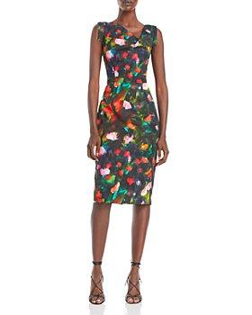 Black Halo - Jackie O Floral Print Sheath Dress