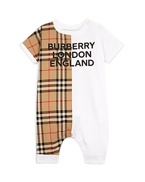 Burberry Climbing clotheses UNISEX LENNOX VINTAGE CHECK ROMPER - BABY