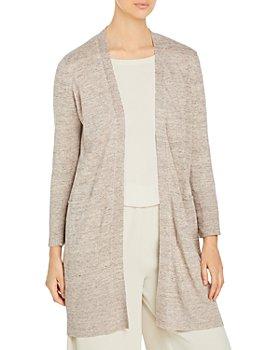 Eileen Fisher Petites - Organic Linen Long Cardigan