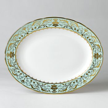 "Royal Crown Derby - ""Darley Abbey"" Oval Platter, 13"""