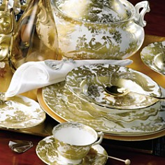 """Royal Crown Derby """"Gold Aves"""" Sauce Boat Stand - Bloomingdale's Registry_0"""