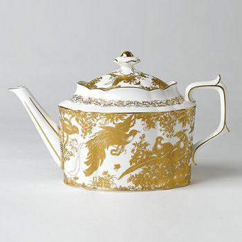 "Royal Crown Derby - ""Gold Aves"" Teapot"