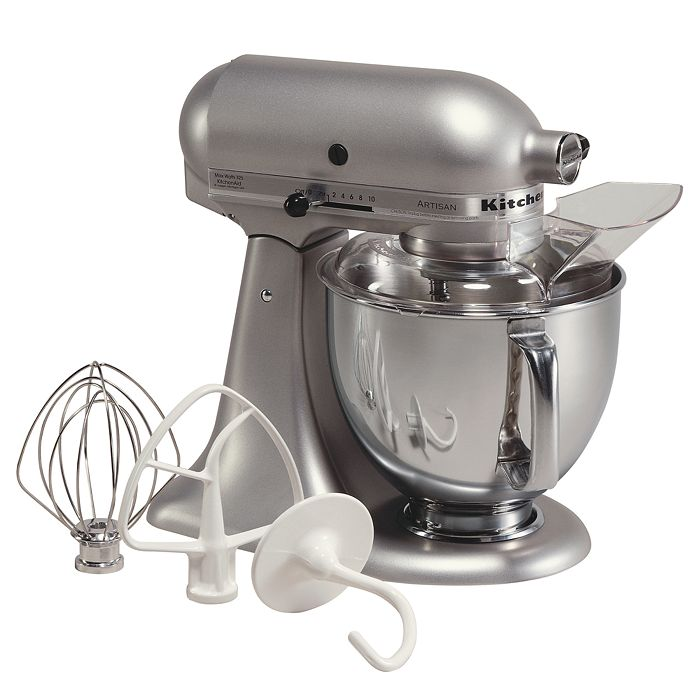 KitchenAid - Artisan 5-Quart Tilt Head Stand Mixer with Stainless Steel Bowl #KSM150PS