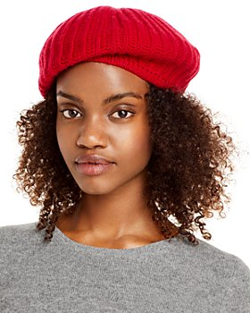 C by Bloomingdale's - Rib-Knit Cashmere Beret - 100% Exclusive