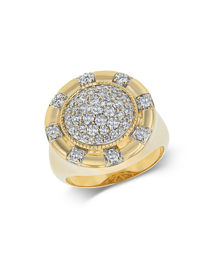 Bloomingdale's - Diamond Pavé Statement Ring in 14K Yellow Gold, 1.0 ct. t.w. - 100% Exclusive