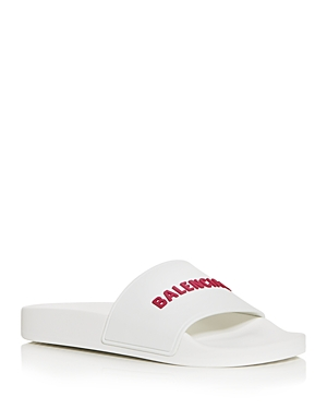 Balenciaga WOMEN'S LOGO SLIDE SANDALS