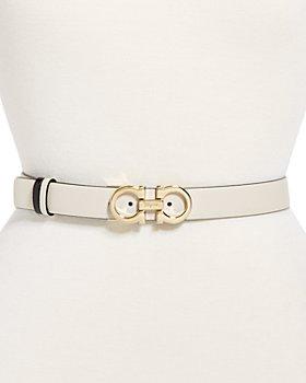 Salvatore Ferragamo - Women's Double Gancini Buckle Reversible Leather Belt