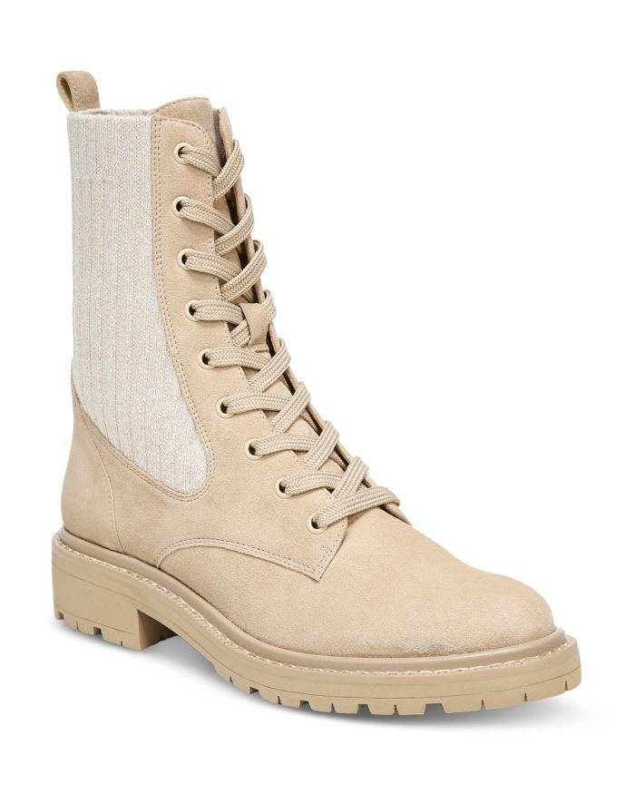 Sam Edelman Women's Lydell Almond Toe Knit Fabric & Suede Booties   | Bloomingdale's