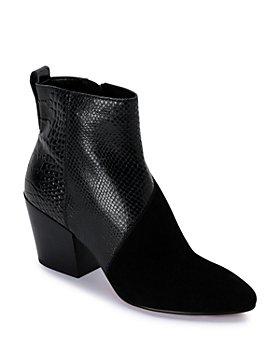 Dolce Vita - Women's Crew Almond Toe Leather Booties