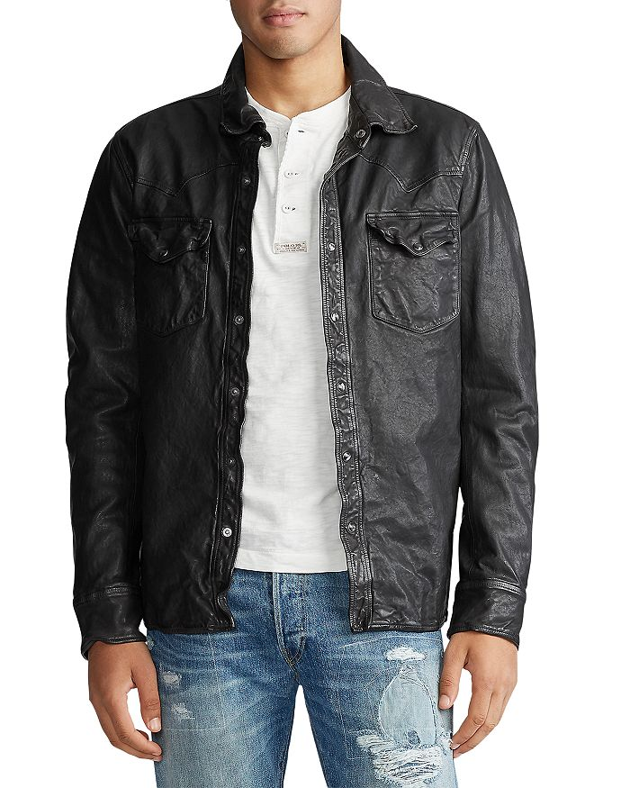 Polo Ralph Lauren - Washed Leather Shirt Jacket