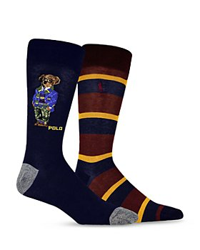 Polo Ralph Lauren - Camo Collegiate Bear Slack Socks, Pack of 2