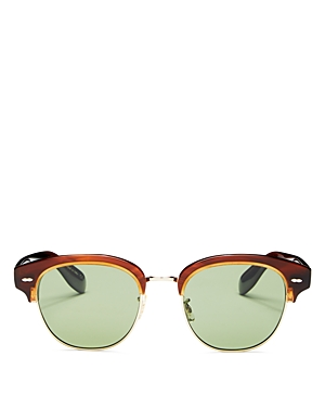 Oliver Peoples Men's Polarized Square Sunglasses, 52mm