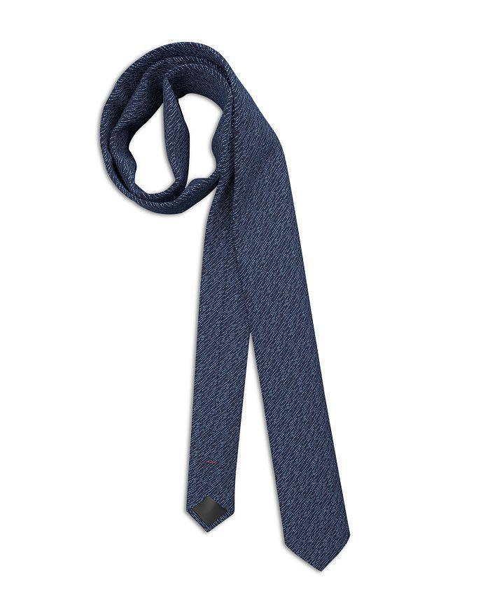 HUGO - Silk Broken Dotted Stripe Skinny Tie