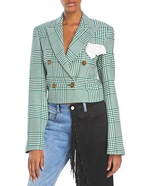 Walsh Plaid Cropped Jacket