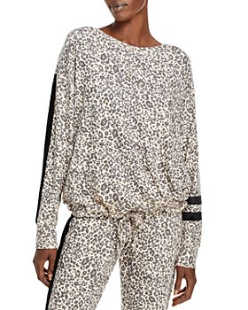 Vintage Havana - Velvet Trim Leopard Print Sweatshirt