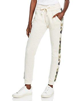 Vintage Havana - Fleece & Leopard Jacquard Jogger Pants
