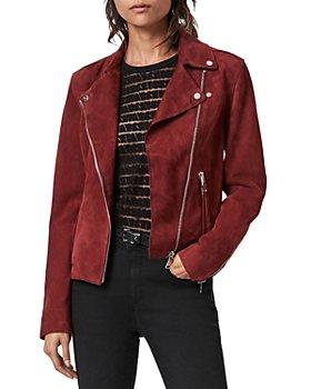 ALLSAINTS - Dalby Redge Suede Moto Jacket