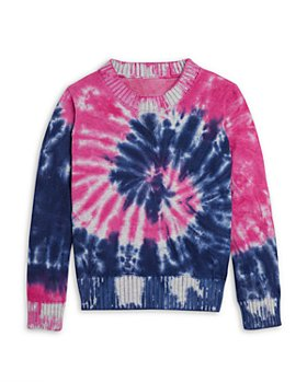 AQUA - Girls' Tie Dye Swirl Sweater - Big Kid