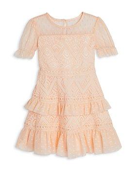 BCBG GIRLS - Girls' Lacy Mesh Dots Dress - Little Kid, Big Kid
