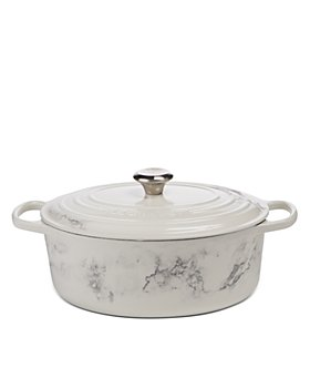 Le Creuset - 6.75 Qt Marble Applique Oval Dutch Oven - 100% Exclusive