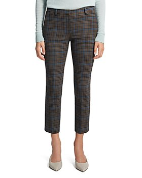 Theory - Treeca Plaid Cropped Pants
