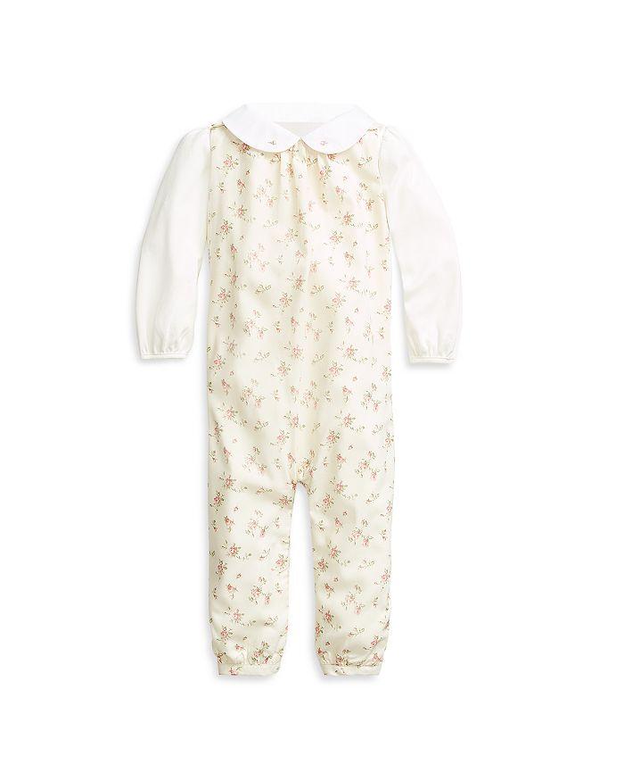 Ralph Lauren - Girls' Bodysuit & Floral Print Overalls Set - Baby