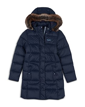 Barbour - Girls' Quilted Faux Fur Hooded Long Coat - Big Kid