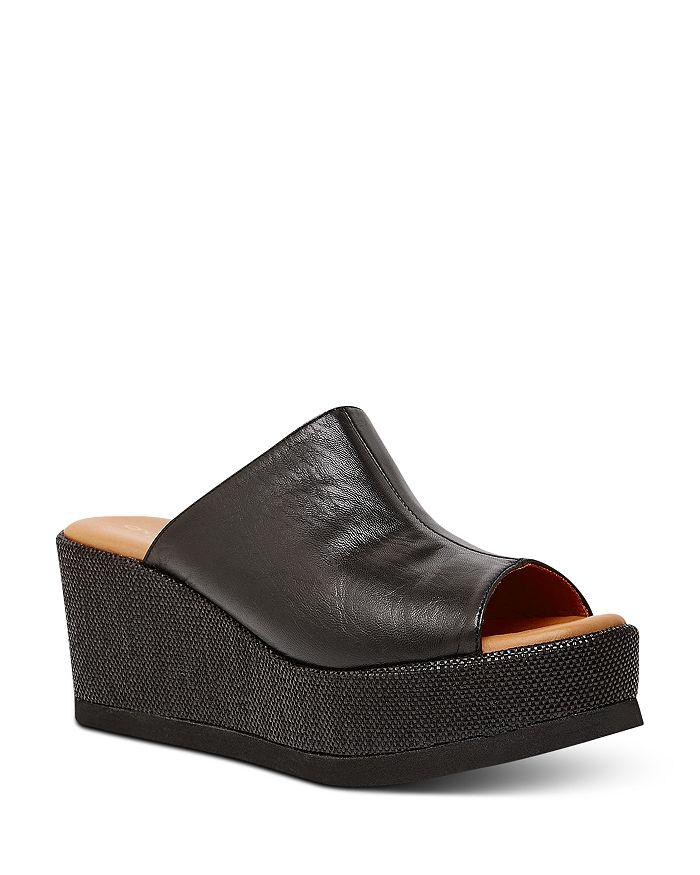 Andre Assous Women's Clara Platform Wedge Sandals In Black