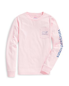 Vineyard Vines - Boys' Logo Print Long Sleeved Cotton Tee - Little Kid, Big Kid