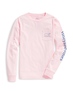 Vineyard Vines Boys\\\' Logo Print Long Sleeved Cotton Tee - Little Kid, Big Kid-Kids