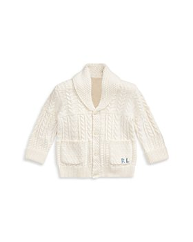 Ralph Lauren - Boys' Shawl Collar Cabled Cardigan - Baby