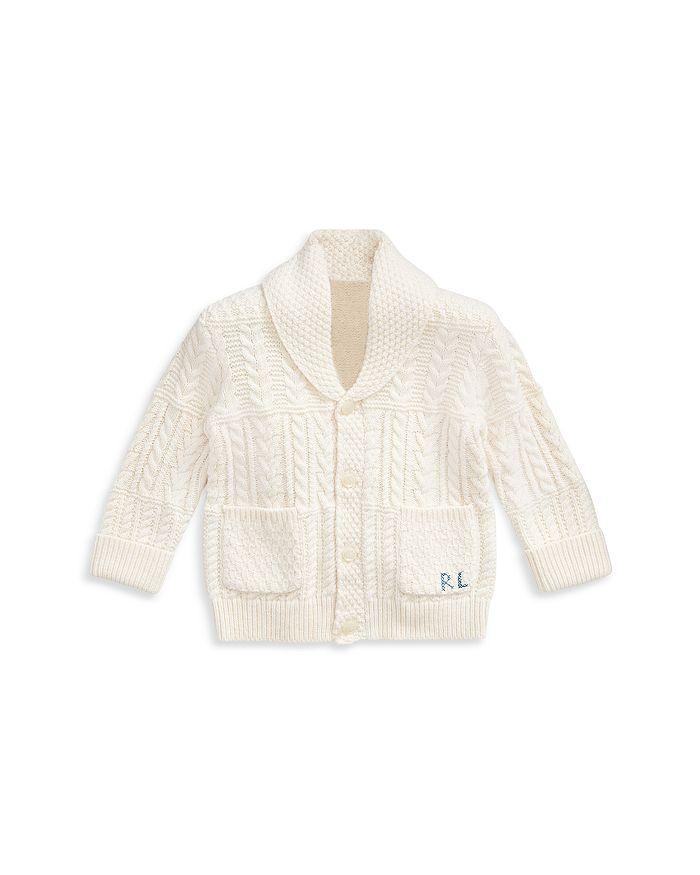 Ralph Lauren - Boys' Shawl Collar Cabled Cardigan - Baby