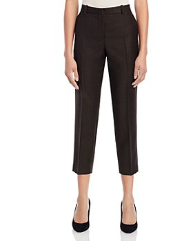 Theory - Treeca Cropped Flannel Pants