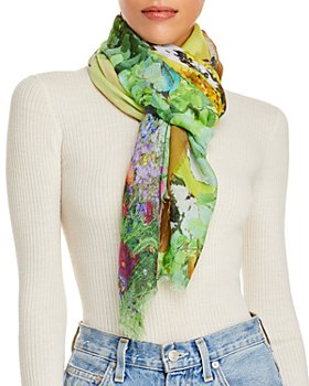 Fraas - Forest Print Square Fringe Scarf - 100% Exclusive