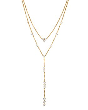 "Nadri - Remi Cubic Zirconia Convertible Layered Lariat Necklace, 16""-18"""