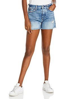 rag & bone - Dre Distressed Denim Shorts in Norwalk