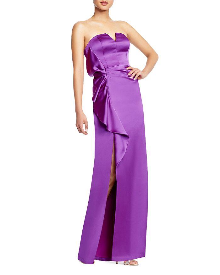 Aidan Mattox - Cascading Ruffle Strapless Gown
