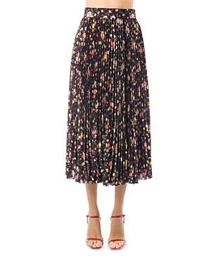 Msgm Gonna Pleated Printed Skirt