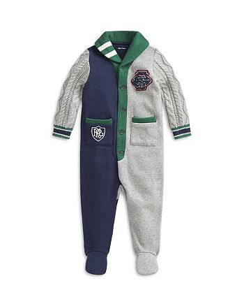Ralph Lauren - Boys' Hybrid Shawl Footed Coverall - Baby