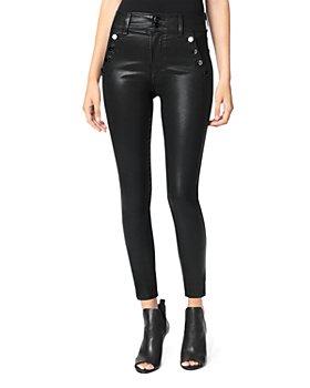 Joe's Jeans - The Georgia Coated Skinny Ankle Jeans in Black