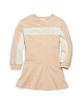 Chloé - Girls' Logo Sweatshirt Dress - Little Kid, Big Kid