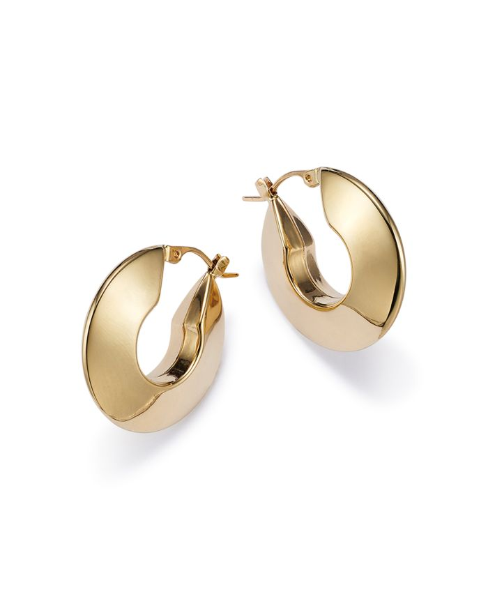 Bloomingdale's Bloomingdale's Knife Edge Small Hoop Earrings in 14K Yellow Gold - 100% Exclusive  | Bloomingdale's