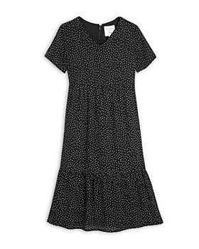 Hayden Los Angeles - Girls' Short Sleeve Polka Dot Midi Dress - Big Kid