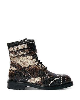 ALLSAINTS - Women's Brigade Embossed Leather Combat Boots
