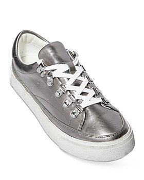 ALLSAINTS - Women's Quinn Low Top Metallic Leather Platform Sneakers