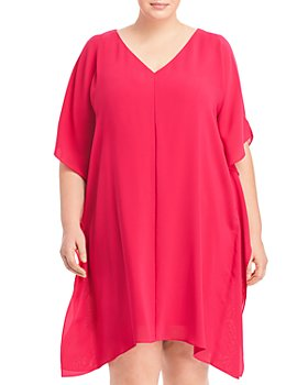 Adrianna Papell Plus - Plus Size Cold Shoulder Caftan Dress
